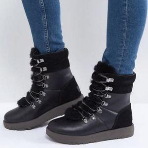 New Ugg Viki Waterproof Black Boots 10